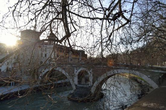 Il ponte dell'isola tiberina - Roma