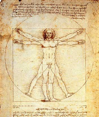 L'uomo di Vitruvio di Leonardo