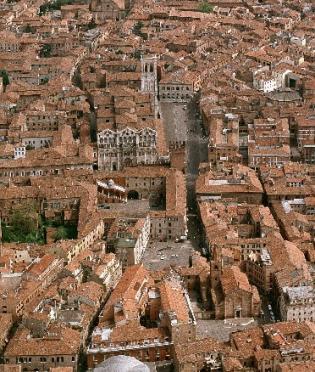 Ferrara vista dall'alto