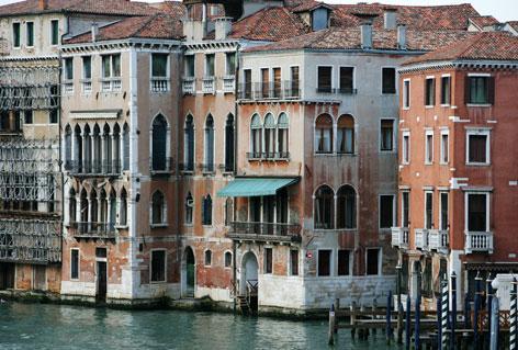Palazzi sul Canal grande a Venezia