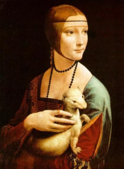 Dama dall'ermellino di Leonardo