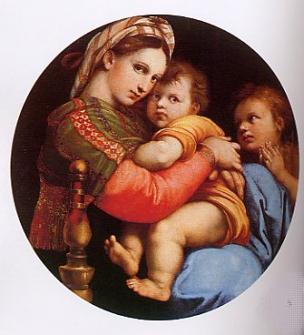 Madonna dalla seggiola di Raffaello