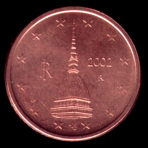 Moneta da 0,02 euro - Mole antonelliana