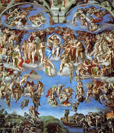 Giudizio universale - Cappella Sistina di Michelangelo